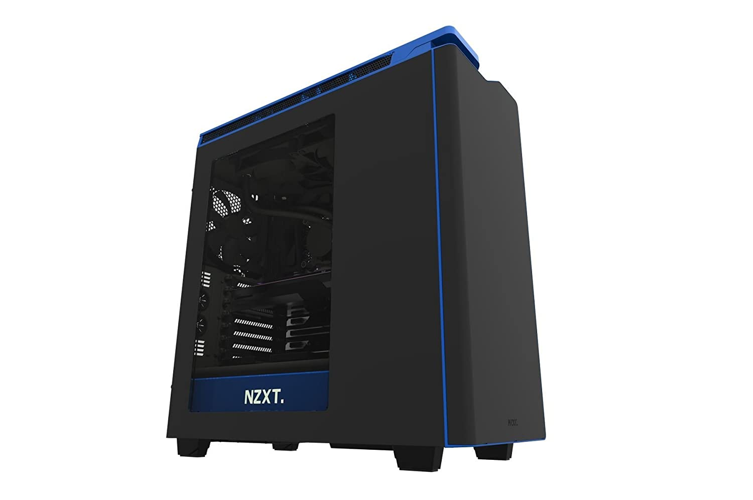 NZXT H440 Mid Tower Computer Case Black / Blue - CA-H442W-M4
