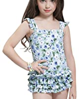 M&Z™Lovely Kids Strips Bawknot Princess Swimsuits Bathing Suit for Girls