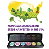 Six Premium Microgreens Seeds Kit - 100% Non GMO