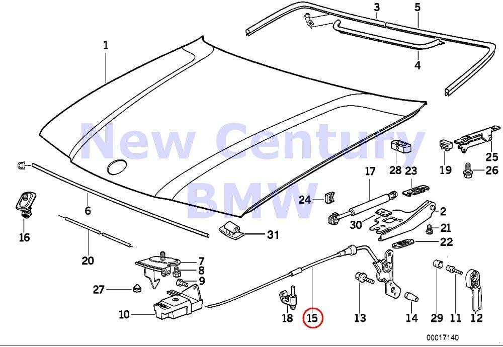 Amazon.com: BMW Genuine Engine Hood/Mounting Parts Engine Hood Mechanism  318i 323i 325i 328i M3 3.2: AutomotiveAmazon.com