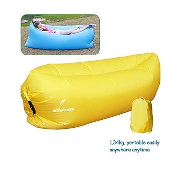 Playa tumbona, fourling Tartan Nylon Plástico hinchable Sacos de dormir para exterior e interior práctico