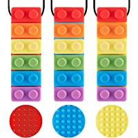 3 Pack Sensory Chew Necklace for Kids Toddlers with Autism ADHD,Biting Needs,Oral Motor Chewy Stick,Teether Toys for…