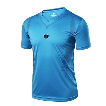 Camisa de hombre Camiseta Térmica de Compresión de manga corta Para Hombre Slim Fitness Running Yoga