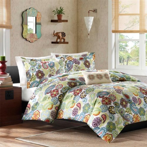Mi-Zone Tamil Comforter Mini Set, Full/ Queen, Multi