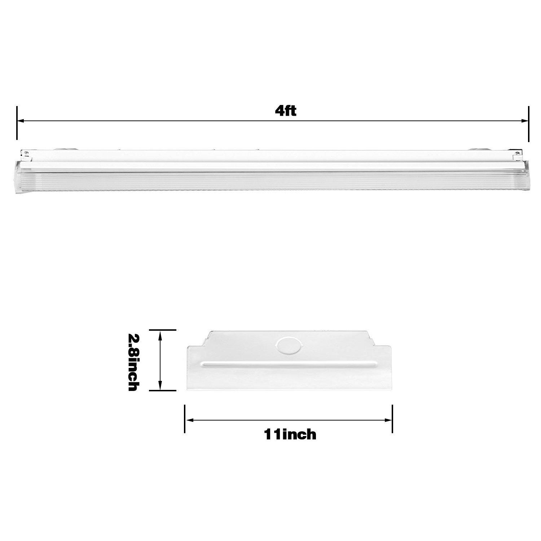 AntLux 72W LED Office Lights Ceiling 4FT LED Wraparound Light, 8000 Lumens, 4000K Neutral White, 4 Foot Flush Mount Wrap Shop Light Fixtures for Garage Workshop, Fluorescent Light Replacement, 4 Pack by ANTLUX (Image #3)