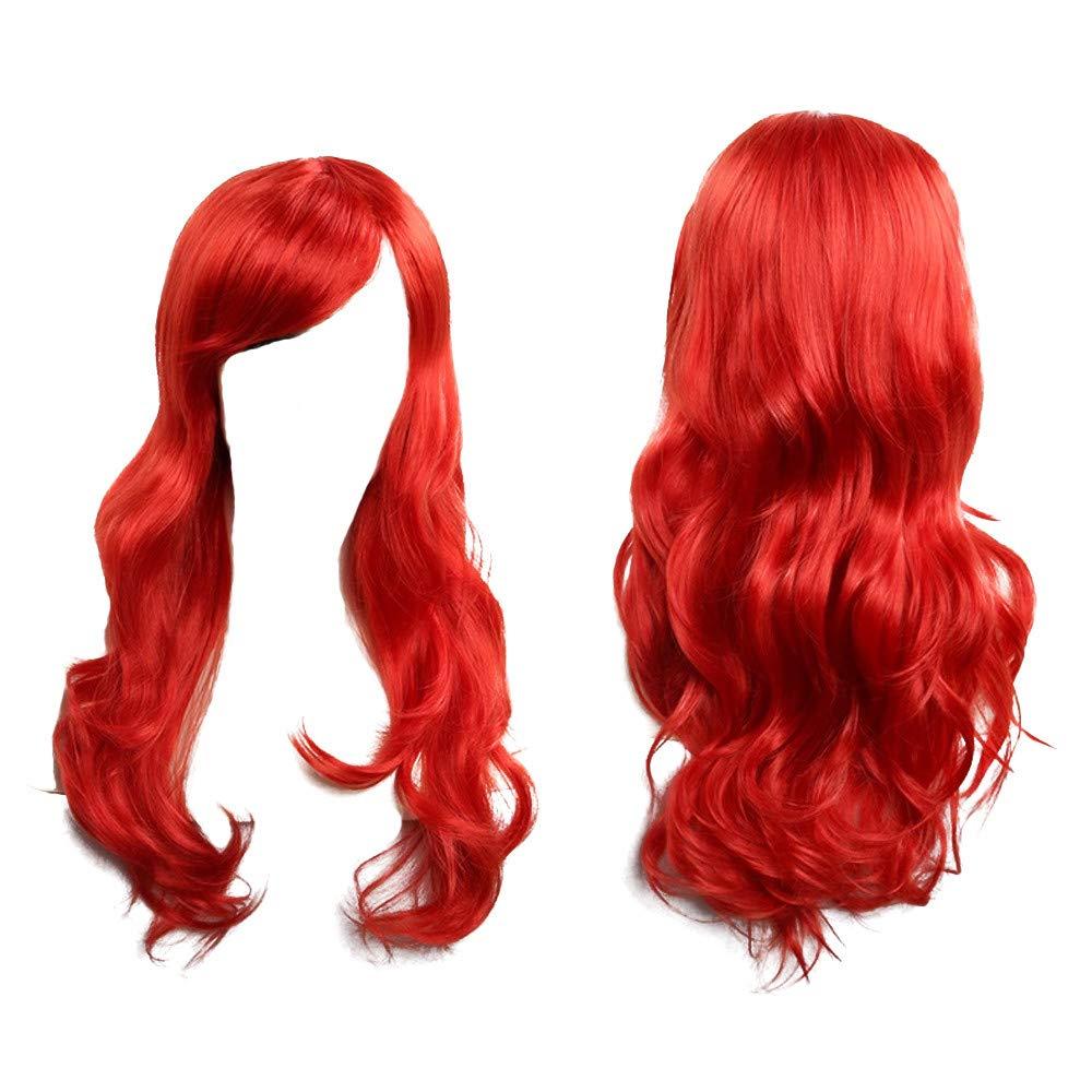 blue Kashyk Fashion Longue Postiche Wig Naturel Synthetique Boucl/é ondul/ées Perruques,Costume Cosplay Perruque Anime Classe Anime image Perruque,Cosplay Party Daily Utilisez Perruque