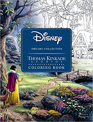 Disney Dreams Collection Thomas Kinkade Studios Coloring Book Amazoncouk 0050837360075 Books