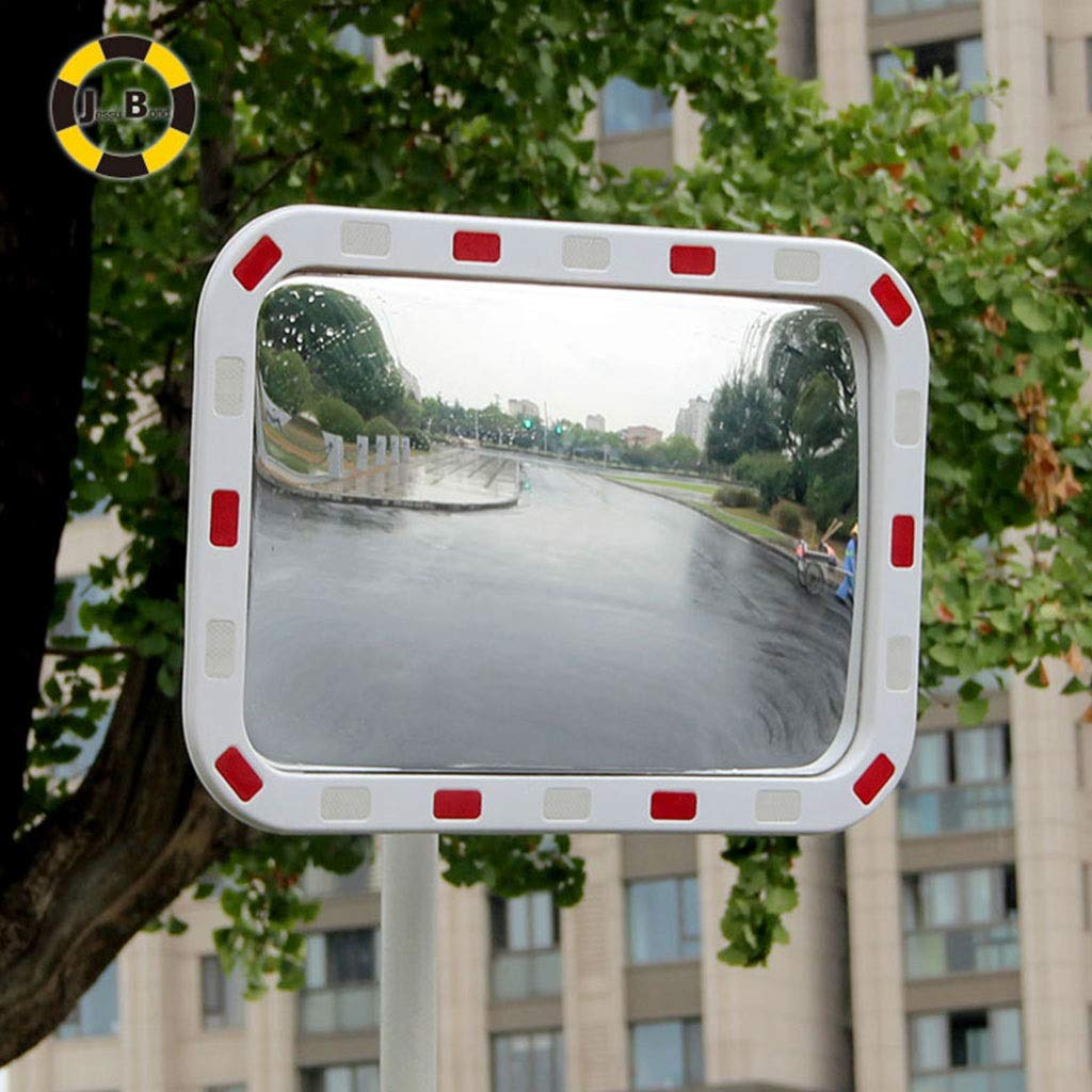 Wide angle lens ✊GJJ/Outdoor Road Intersection Traffic Mirror Indoor Supermarket Convex Safety Mirrors Night Police Mirror 412 (Size : 60x80cm)