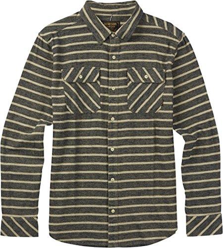 Burton Brighton Flannel, Eclipse Dock Stripe, (Burton Blue Shirt)