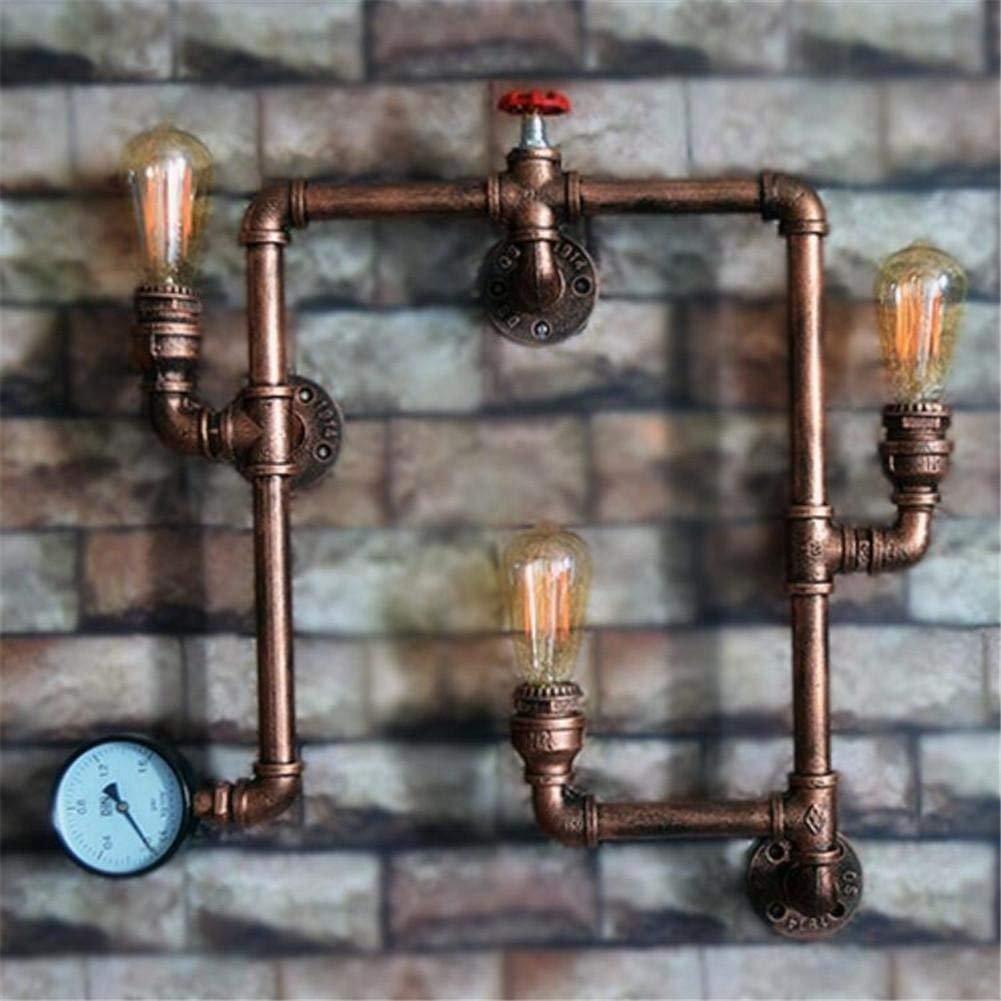 Industrial wind Dekoration Wasserleitung Wandleuchte kreative Retro Bar Home Zubehör (Dieses Produkt ist nicht eine Lampe).