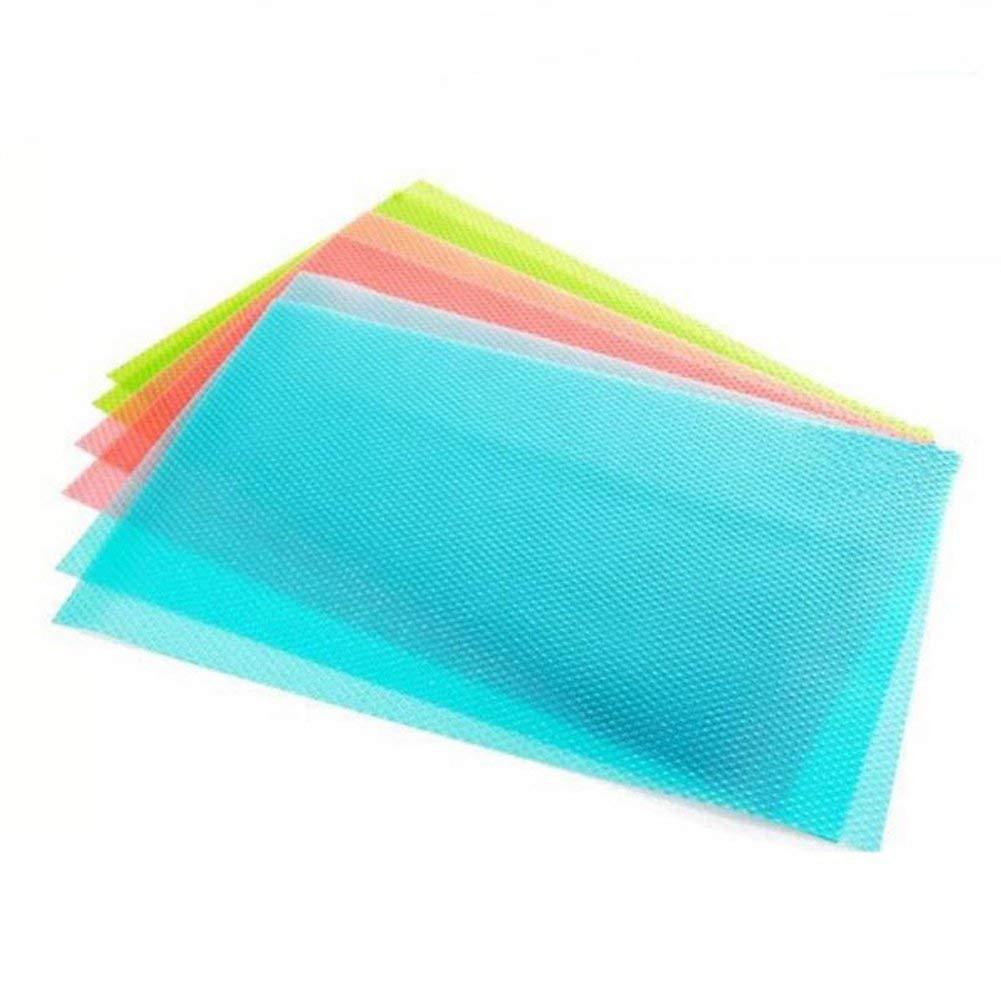 4 Unidades Azul Hangqiao Almohadilla antibacteriana para frigor/ífico Base Acolchada Absorbe la Humedad Antiadherente