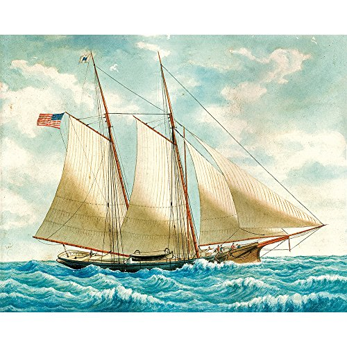 Vintage Style Sailing Ship Poster Print Nautical Sailboat Wall Canvas Art Decor Painting Replica