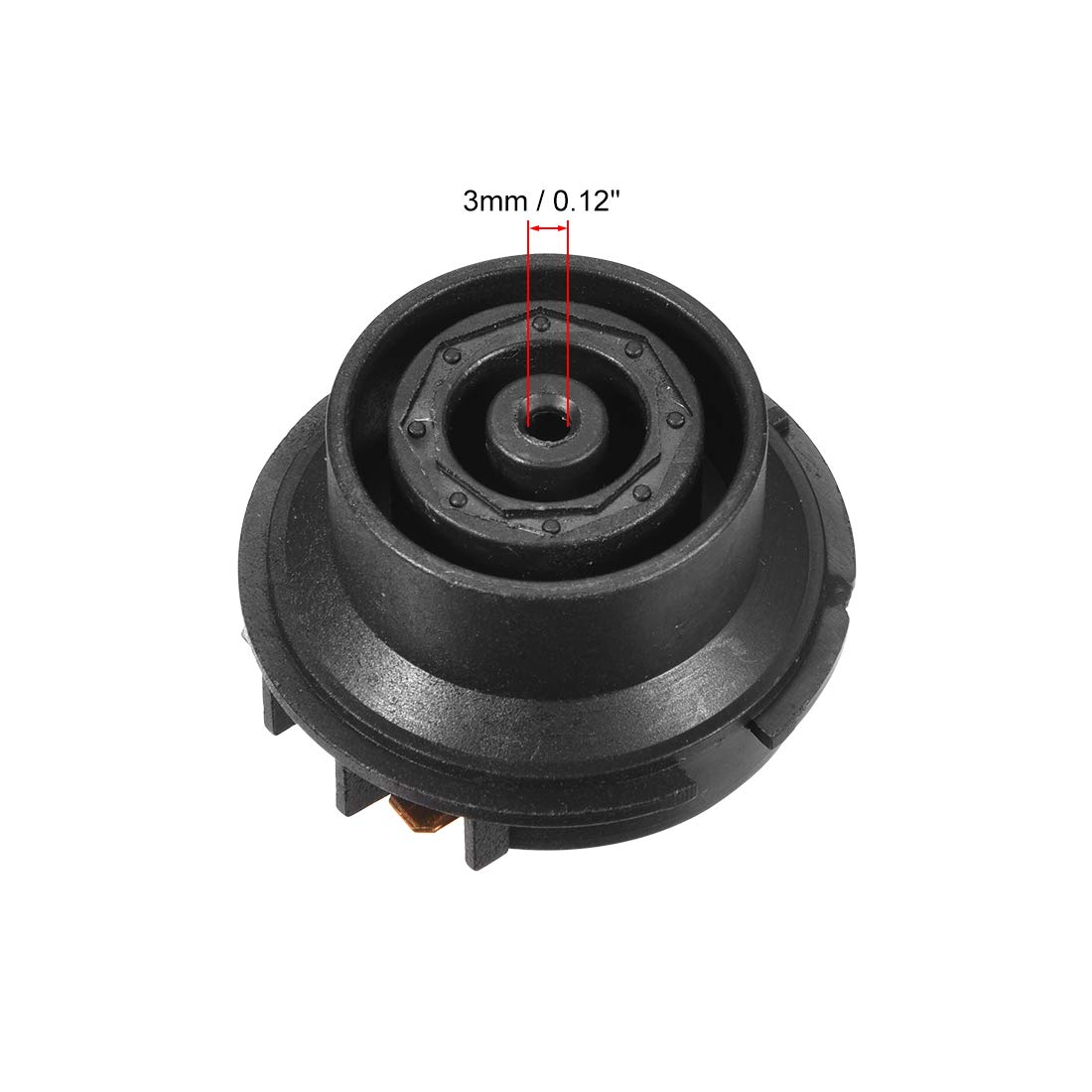 Bimetal Thermostat Temperature Control Switch with Terminals Tip Top Base Socket uxcell Electric Kettle Coupler