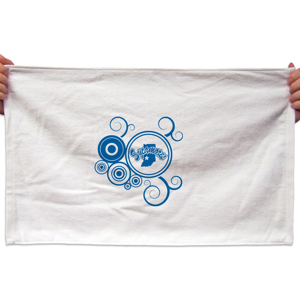 VictoryStore Towels - Indiana State University Rally Towel, Swirl Design, Set of 3