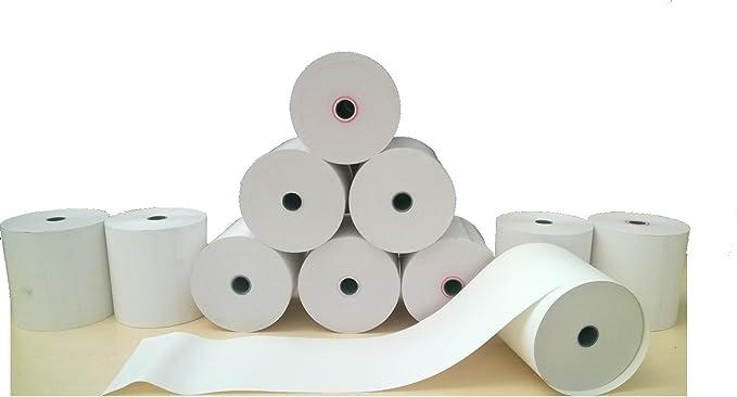 Bisphenol-A zertifizierte HKR-Welt/® Bonrollen aus Thermopapier Thermo Kassenrollen 80//80//12 50 Thermorollen f/ür Epson TM-T 20II BPA frei