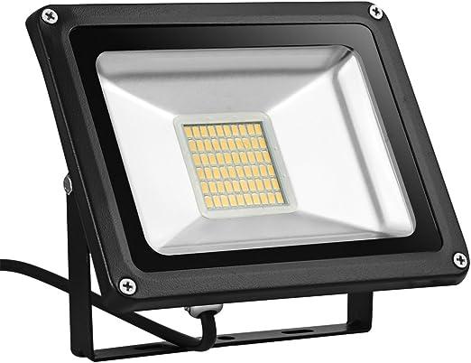 CSHITO Foco LED 30W,2100 lm, Iluminación interior exterior ...