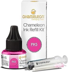 Chameleon Art Products, Ink Refill, Fuchsia PK5, Complete Refill Kit - 25 ML