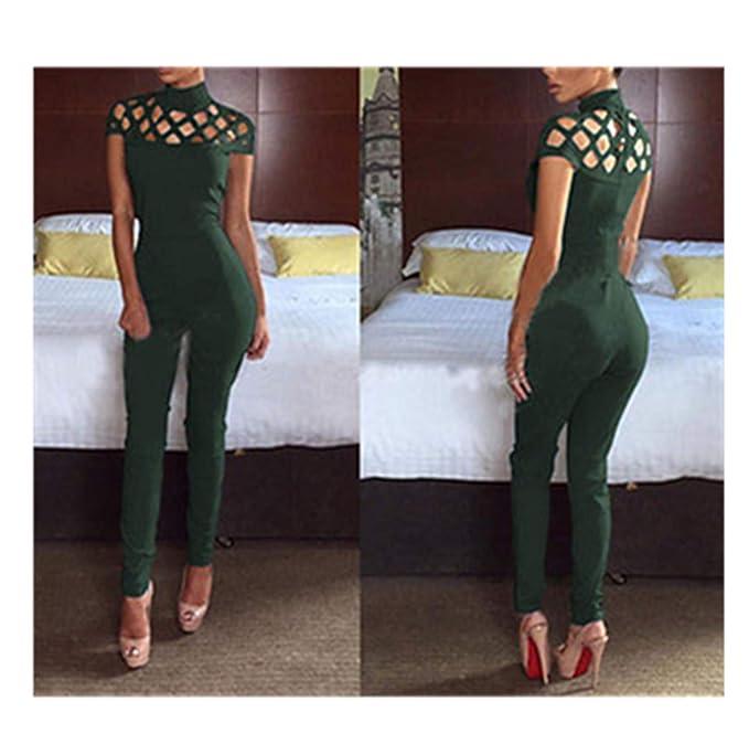 bec5cfc1ed0 Fashion Women Casual Short Sleeve Jumpsuits Bodysuit Romper Jumpsuit Long  Pants Black