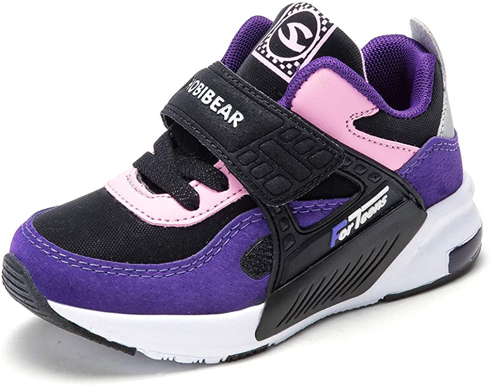Tennis Walking Shoe BEEDPAN Sneakers for Boys and Girls Purple//Black, Toddler10 Lightweight Running Shoes Kids