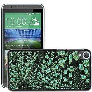 Etui Housse Coque de Protection Cover Rigide pour // M00152352 Fractal 3D Render de patrones de diseño // HTC Desire 820