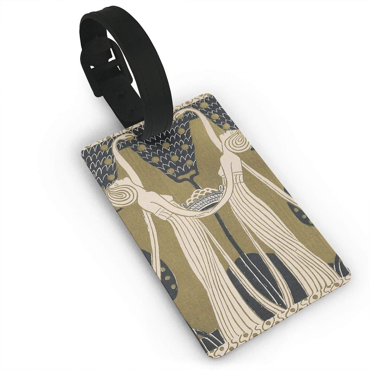 Art Nouveau Women Luggage Tags Suitcase Labels Bag Travel Accessories Set of 2