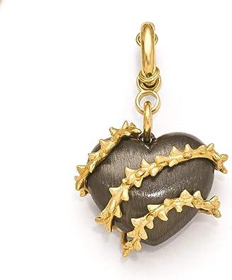 Bronze heart pendant charm