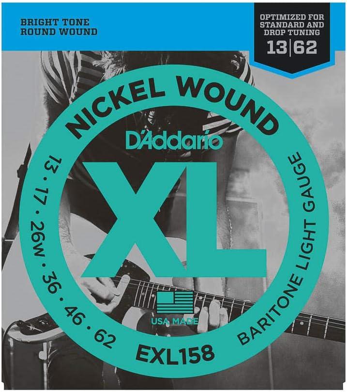D'Addario EXL158 - Juego de cuerdas para guitarra eléctrica de níquel, 013' - 062'