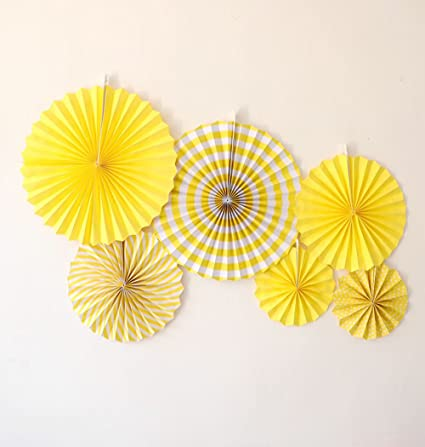 Amazon Daily Mall 12pcs Art Craft Diy Tissue Paper Fan Hanging