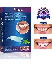 Teeth Whitening Strips, Foshine Professional Whitestrips Zero Peroxide Fluoride-Free Enamel Safe Teeth Whitening Kit No Sensitivity & Fast Results Mint Flavor (14 Upper + 14 Lower)