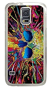 Samsung Galaxy S5 Colorful Skull PC Custom Samsung Galaxy S5 Case Cover Transparent