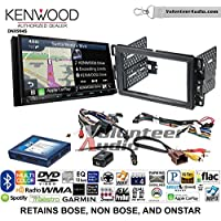 Volunteer Audio Kenwood Excelon DNX994S Double Din Radio Install Kit with GPS Navigation Apple CarPlay Android Auto Fits 2007-2013 Silverado, Avalanche (Onstar and Bose)
