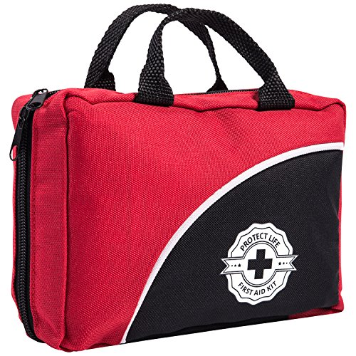 First Aid Kit for Emergency & Survival - Car, Home, Travel, Office or Sports - Compact Bag fully stocked with Medical Supplies (Personal Emergency Kit compare prices)