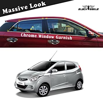Black Eagle Chrome Window Garnish Trim For Hyundai Eon Amazon In
