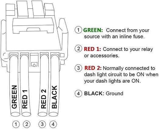 amazon.com: mictuning m0810-t-llbb led push switch with connector wire kit  for toyota - led light bar symbol -blue: automotive  amazon.com