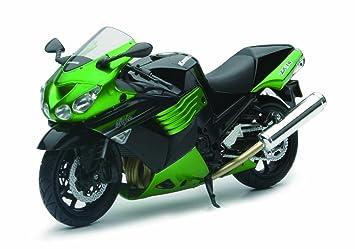 Newray 57433 - Motocicleta Kawasaki ZX-14 2011, 1:12, color ...