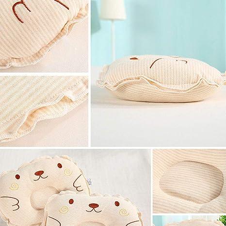 mi ji Almohada para beb/é forma Almohada Beb/é almohada para evitar almohadas planas para la cabeza Forma beb/é reci/én nacida almohada protectora para beb/és caf/é