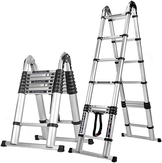 Escalera telescópica 1.6M + 1.6M (10 Pies) Aluminio EN131 Tipo A ...