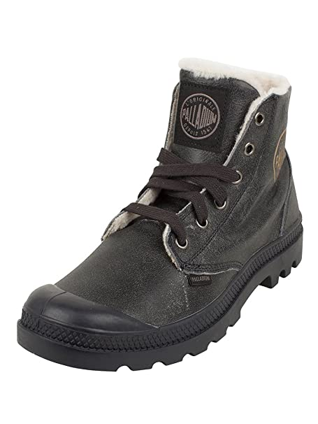 101a016ad0d Palladium 02609 Mens Pampa Hi Leather S Wool Lined Boot - Anthracite Pilot  - Size UK 12: Amazon.co.uk: Clothing