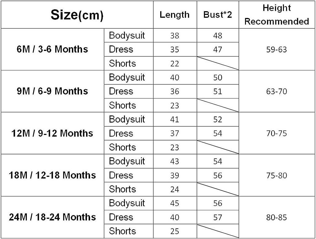 3 Pezzi Outfits Set Body Pantaloncini JiAmy Bambino Ragazze Vestito a Maniche Corte