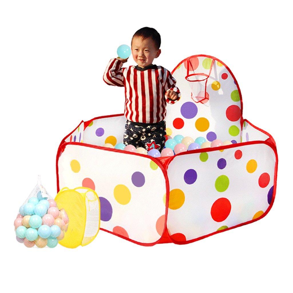 バスケットボールのフープ、幼児のプレイテントの海ボールプール、屋内屋外の赤ちゃんの安全性の再生センターヤード、レッドボールピットとポータブルPlaypen (サイズ さいず : 400 balls) 400 balls  B07DVKX1ZS
