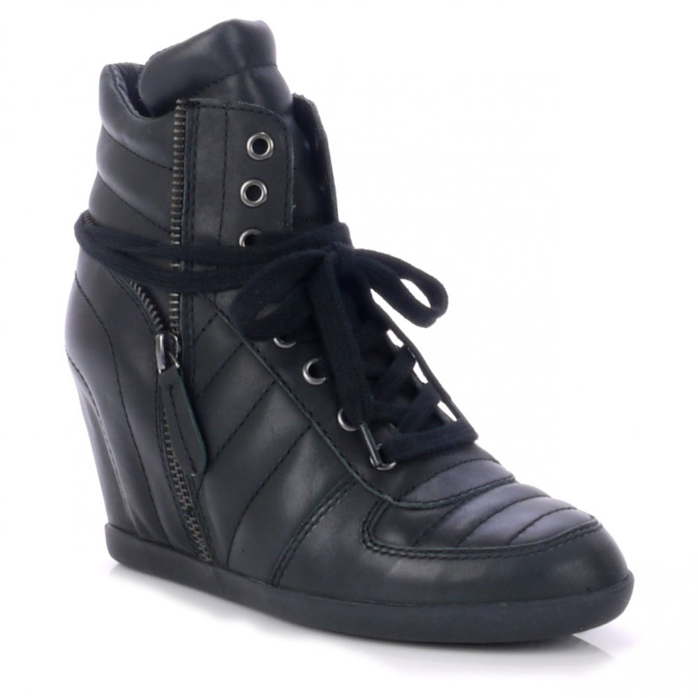 1f1661d92097 Ash Brooklyn Bis Black Hi-Top trainer Black 39  Amazon.co.uk  Shoes   Bags