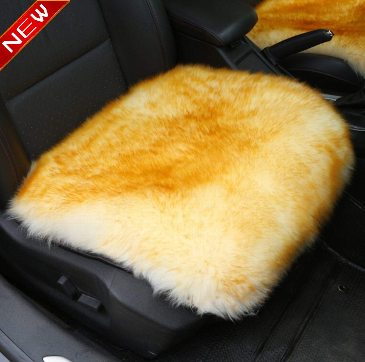 or Van Front Purple SUV Truck Sisha Sheepskin Seat Cushion Cover Winter Warm Natural Wool Car Seat Covers Universal Fit for Most Car
