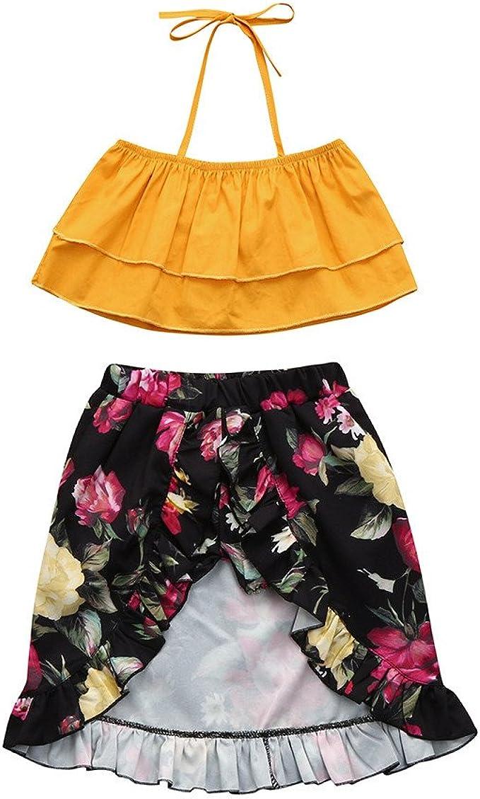 Zerototens - Falda - para niña Naranja naranja (3-4 años): Amazon ...