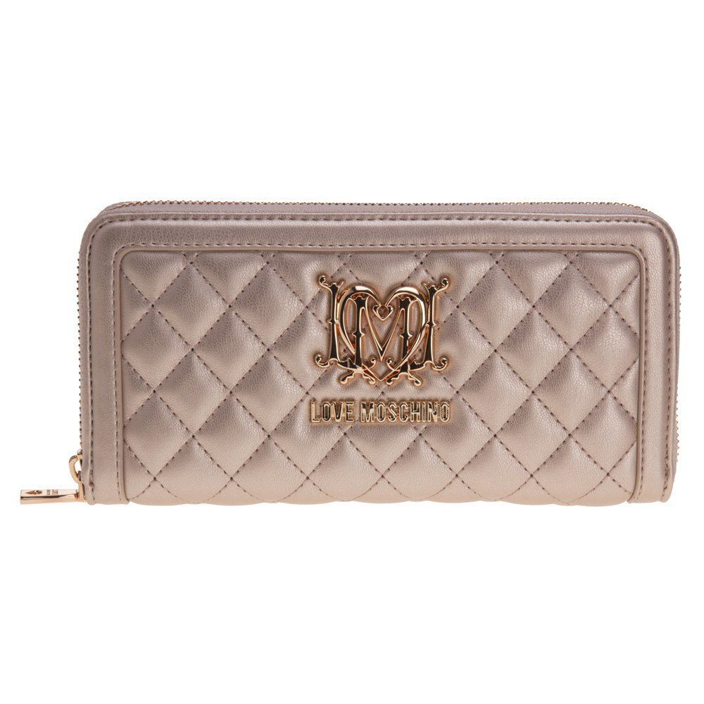 Love Moschino Quilted Womens Purse Gold