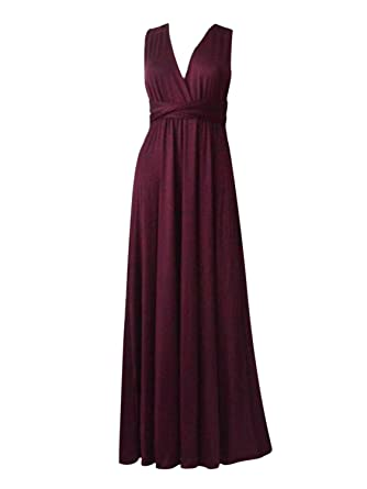 34d0a85cfe9 Amazon.com  Clothink Women Convertible Wrap Strap Wide Leg Pant Romper  Jumpsuits  Clothing