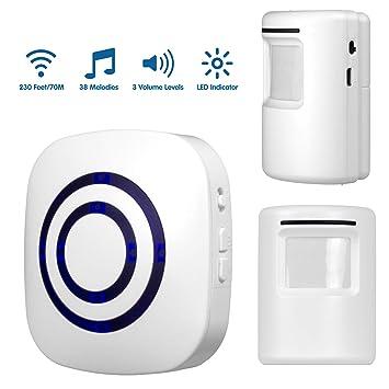 SimLife - Alarma con sensor de movimiento, alarma de entrada inalámbrica, alarma del sistema