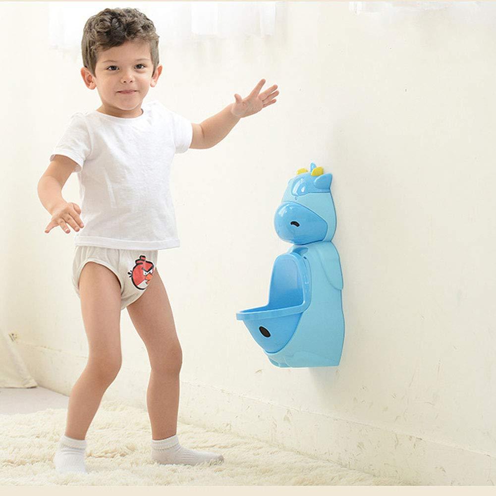 LWYJ Nettes Kuh-T/öpfchen-Toiletten-Trainings-Urinal f/ür Jungen mit lustigem Ziel-Kinder-T/öpfchen-Kinderurinal-PIPI-Trainer