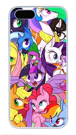 huge selection of 86443 b296a Amazon.com: iPhone 5 Case, iPhone 5S Case, Cartoon My Little Pony ...