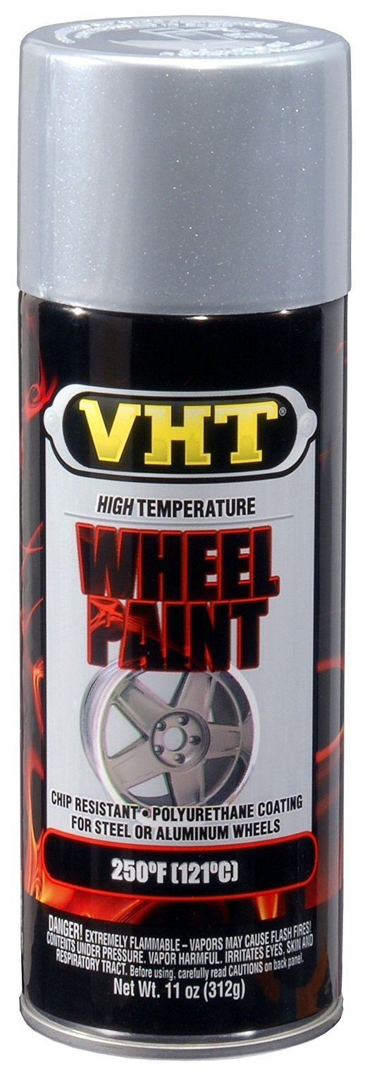 VHT (ESP186007-6 PK) Chevy Rally Silver High Temperature Wheel Paint - 11 oz. Aerosol, (Case of 6) by VHT