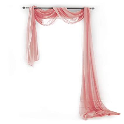 Semi Sheer Luxury Scarf Window Decor Modern Classic Outdoor Home Design Light Penetrating Provide Privacy Soft Durable Polyester Easy Upkeep Add To
